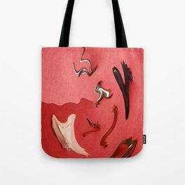 Widgets on Red Tote Bag