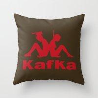 kafka Throw Pillows featuring Kafka by le.duc