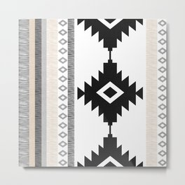 Pueblo in Tan Metal Print