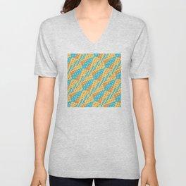Chocktaw Geometric Square Cutout Pattern - New Mexico Unisex V-Neck