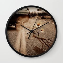 Exhausting Pipe Flowers Wall Clock