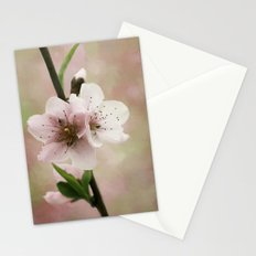 Pink Peach Blossoms Stationery Cards