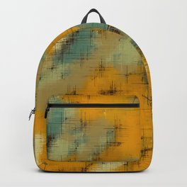 painting texture abstract background in brown and green Backpack