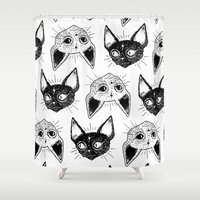 kittens Shower Curtains featuring Kittens  by lOll3