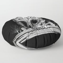 Pulled sugar, day of the dead skull Floor Pillow