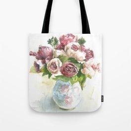 Peonies in a vase Tote Bag