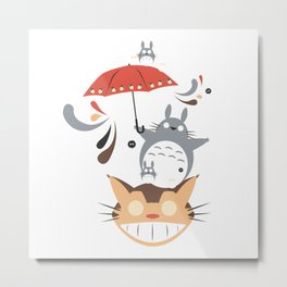 ghibli Umbrella Metal Print