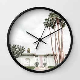 That Pink Door House Palm Springs,California Wall Clock