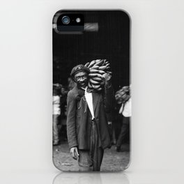 Unloading Bananas 1920s New Orleans Vintage Photograph iPhone Case