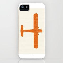 Vintage Orange Airplane Art Print iPhone Case