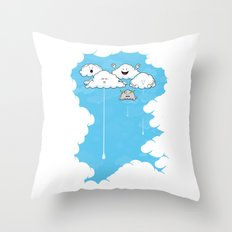 Young Clouds fooling around Throw Pillow