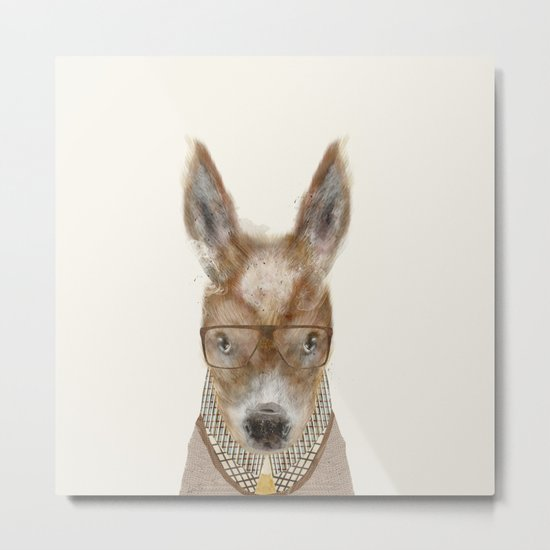 little donkey brown Metal Print