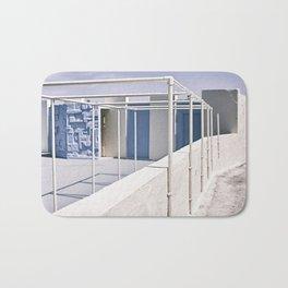 white&blue Bath Mat