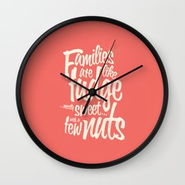 Families - red Wall Clock