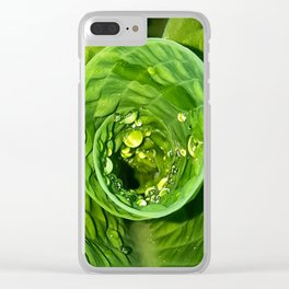 Spiral Drops Clear iPhone Case