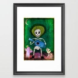 Day of the Dead Guitar playing skeleton Framed Art Print