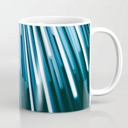 Hyperspace Fiber Optics Blue white Streaks Of Light Coffee Mug