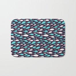 Colorful fish seamless pattern design Bath Mat