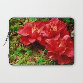 Fallen camellias Laptop Sleeve