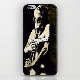 Gas Mask Girl iPhone Skin