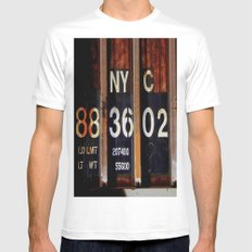 NYC 88 36 02 White Mens Fitted Tee MEDIUM