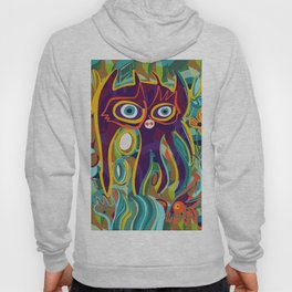 Street Art Purple Spirit of Nature in the Jungle  Hoody