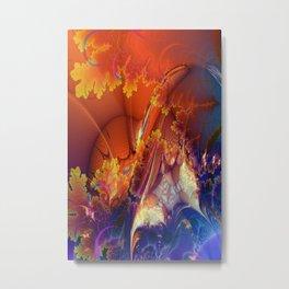 Spreading Sunshine Fractal Metal Print
