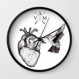 Humming Heart Wall Clock