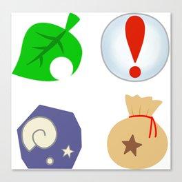 Animal Crossing Icons Canvas Print