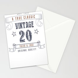 20th Birthday - Vintage 20 Tried & True Stationery Cards