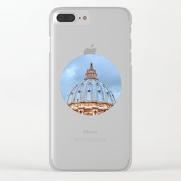 The dome of St. Peter's Basilica, Vatican, Rome, Italy. Clear iPhone Case
