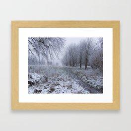 Walk in the Frost Framed Art Print