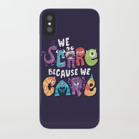 risa rodil iPhone & iPod Cases featuring We Scare Because We Care by Risa Rodil