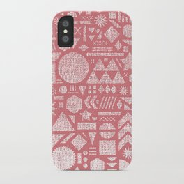 Modern Elements with Bubble Gum. iPhone Case