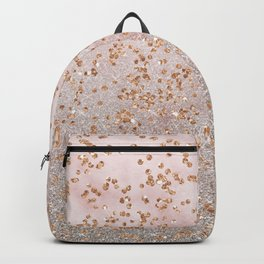 Mixed glitters on pink marble Backpack