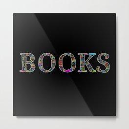 Books. Metal Print