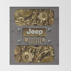 Steampunk Jeep with Gear machines iPhone 4 4s 5 5c 6, pillow case, mugs and tshirt Throw Blanket