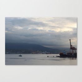 Vancouver Harbour and Seabus Canvas Print