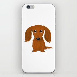Longhaired Red Dachshund iPhone Skin