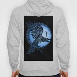 Viking Raven of Death - Blue Hoody