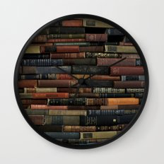 Books on Books Wall Clock