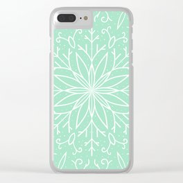 Single Snowflake - Mint Green Clear iPhone Case