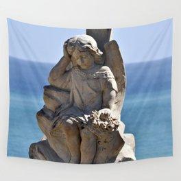Italian Angel with Cross Wall Tapestry