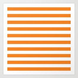 Horizontal Orange Stripes Art Print