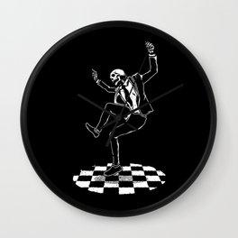 Skeleton Dancing on The Floor Wall Clock