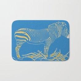 Stripped Zebra Bath Mat