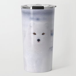 Artic Fox Eyes Travel Mug