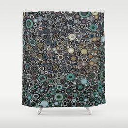 :: Touchdown on a Rainy Day :: Shower Curtain