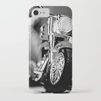 motorbike iPhone & iPod Cases featuring Motorbike-B&W by Yar's Photography