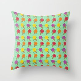 Roses are Rainbow Sorbet Throw Pillow